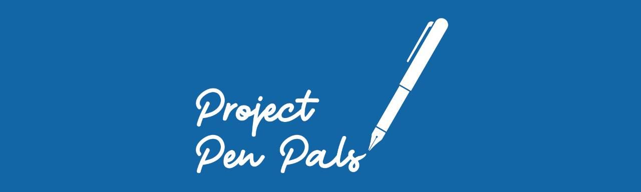 Project Pen Pals with image of a pen